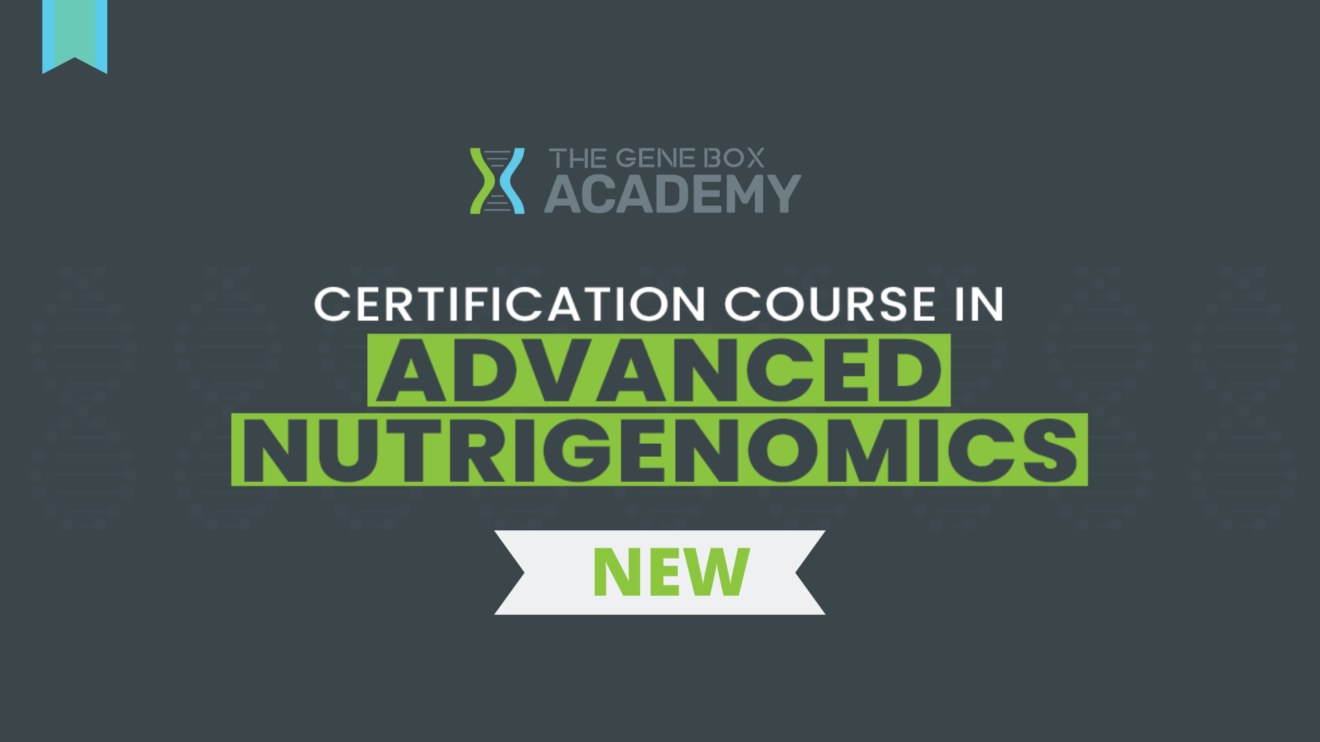 nutrigenomics, certified course on genetics, nutrition, diet,
